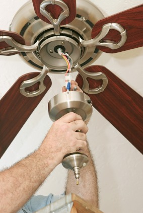 Ceiling fan install in Independence MO by Extreme Electrical Service LLC.