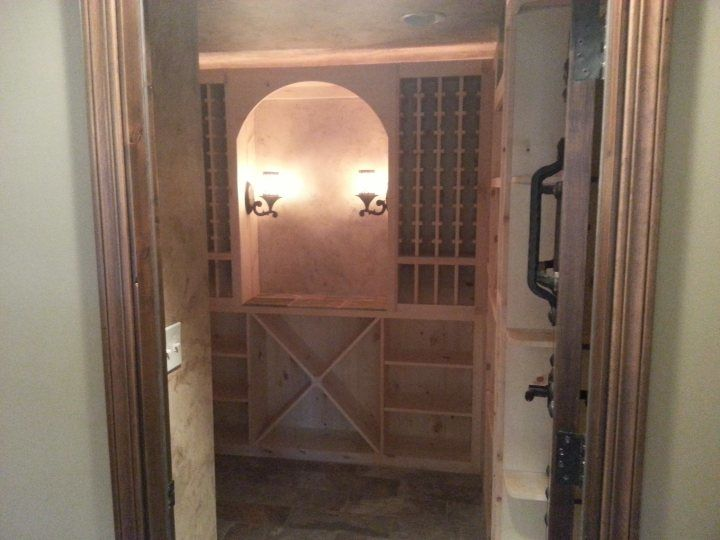 Rope lighting was installed in a wine cellar by Extreme Electrical Service LLC in MO